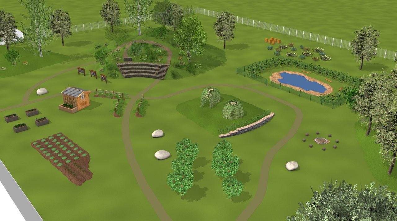 Raum für naturnahe Erfahrung und Spielbereiche